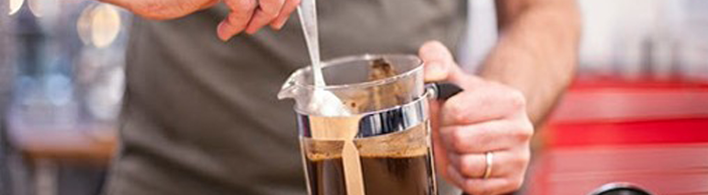 Barista with French Press